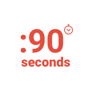 Average response time from recipient is just 90 seconds