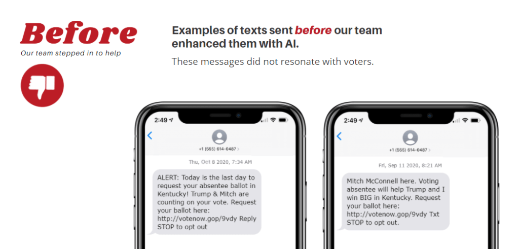 Artificial Intelligence Texting Saved the Day