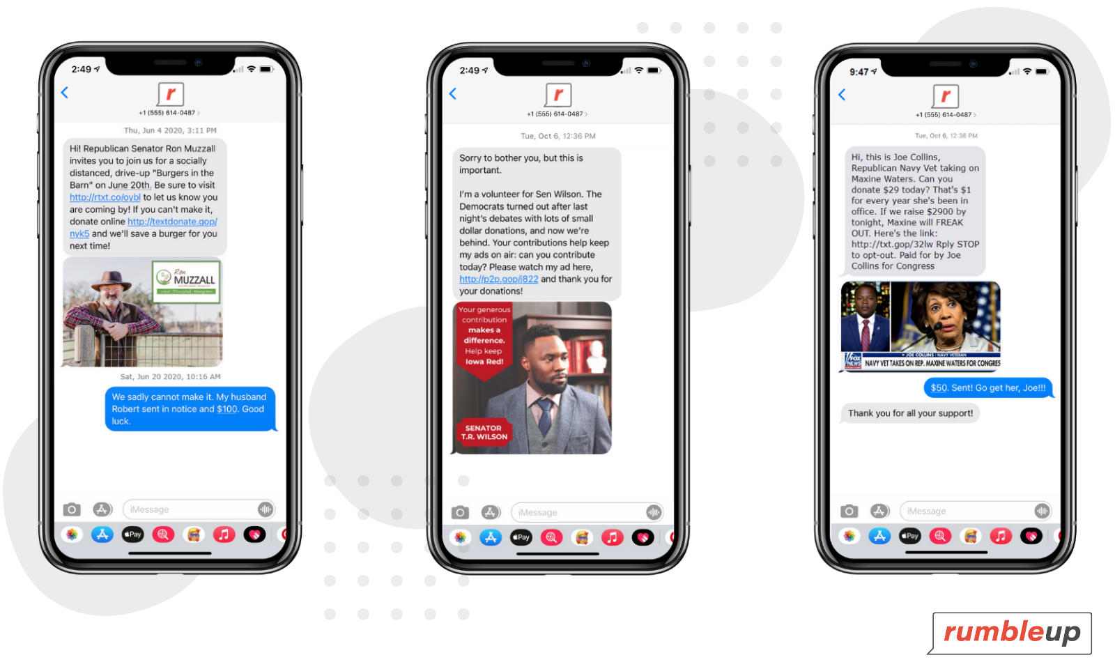 Fundraising Political Text Messaging Examples